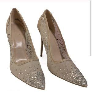 Charlotte Russe nude crystal heels